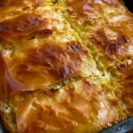Зеленчукова баница със сирене и зелени подправки