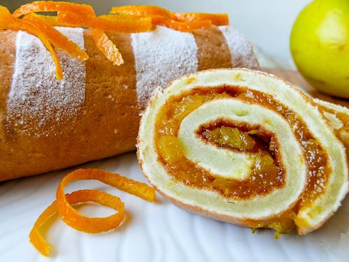 Руло с портокали и сушени кайсии