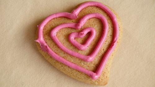Сладки сърца с розов ганаш