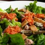 Испанска рибна салата с ромеско сос (мой вариант)