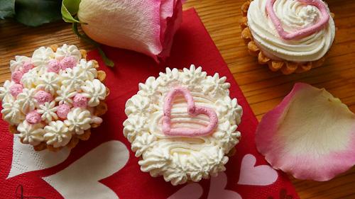 Валентинки с розов аромат