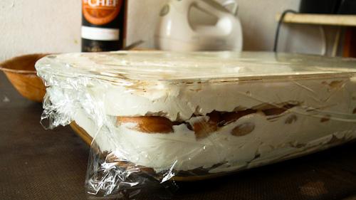 Десерта се покрива с фолио