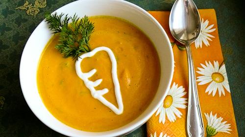 Крем супа от моркови и сирене с порто