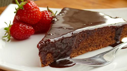 Шоколадов кейк с вино от малини