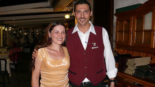 Аз и сервитьора в тратория Povoledo
