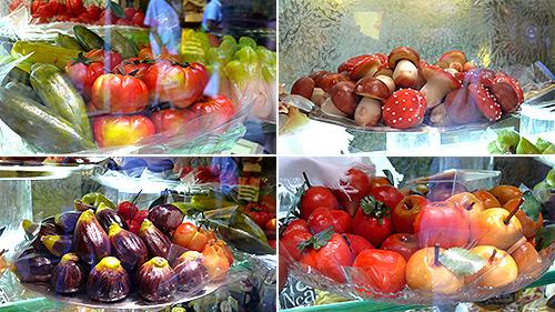 Сладкиши във форми на плодове и зеленчуци