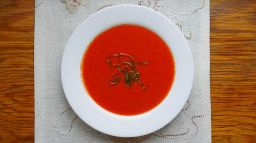 Супа от червени чушки и лайм