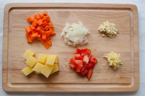Нарязани зеленчуци