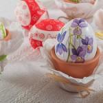 Как да си направя декупаж със салфетки върху великденски яйца
