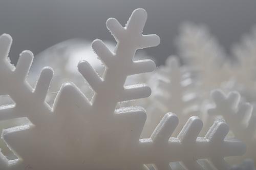 Снежинки от фондан
