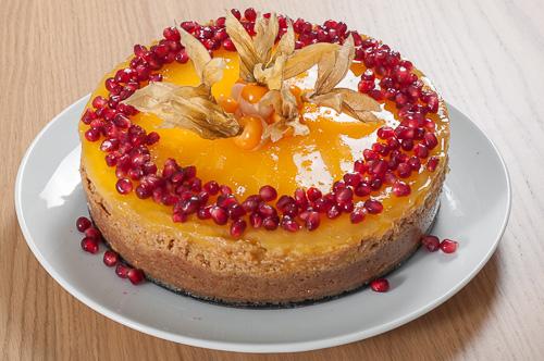 Чийзкейк с бял шоколад и портокалово желе