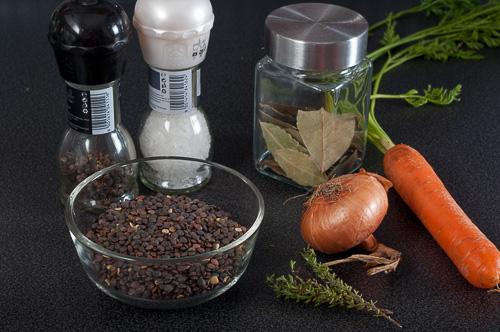 Продукти за салатата от френска леща