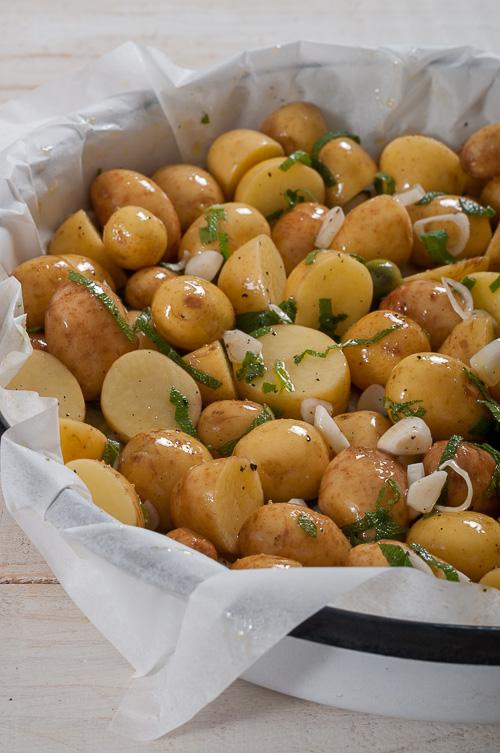 Овкусени пресни картофи