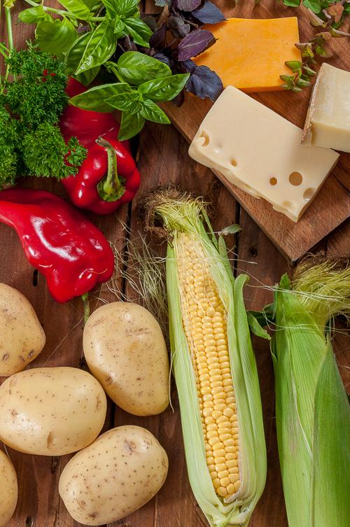Продукти за пълнени есенни картофи