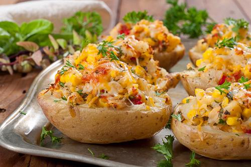 Пълнени есенни картофи