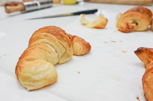 Кроасан приготвен на курса за многолистно тесто и кроасани