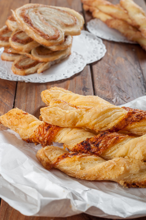 Солени гризини от бързо многолистно тесто