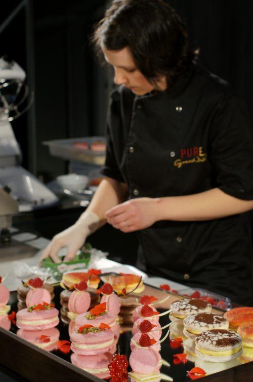 Презентация на френски макарони на майсторския клас на Gastronomix 2016