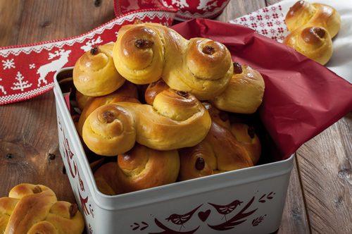 Шведски шафранови кифлички (Lussekatter)