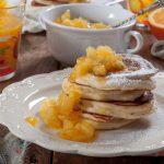 Палачинки с рикота и конфитирани ябълки с портокал