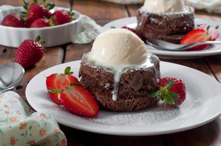 Шоколадово кексче с течен център