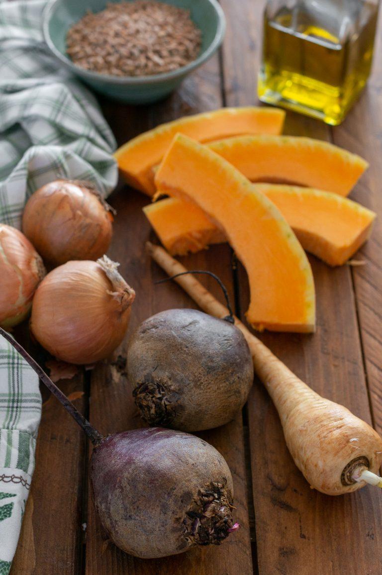Зеленчуци за салата със спелта