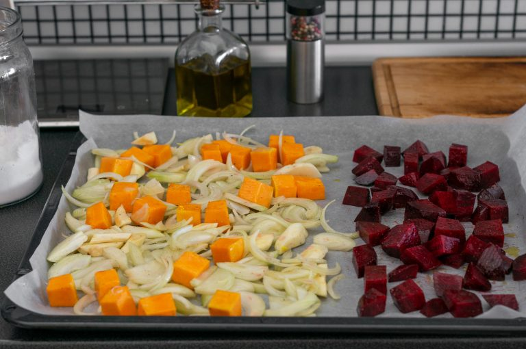 Подготвените за изпичане зеленчуци