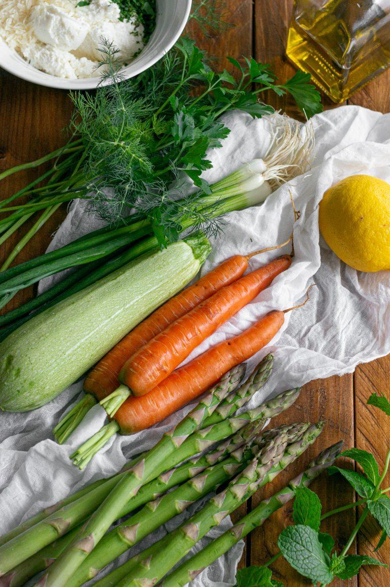Зеленчуци за зеленчуков галет с рикота