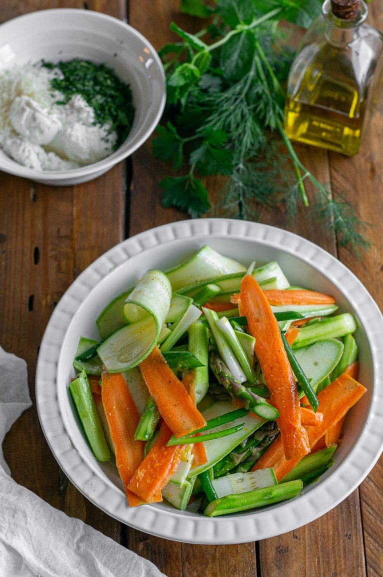 Подготвените зеленчуци за галет