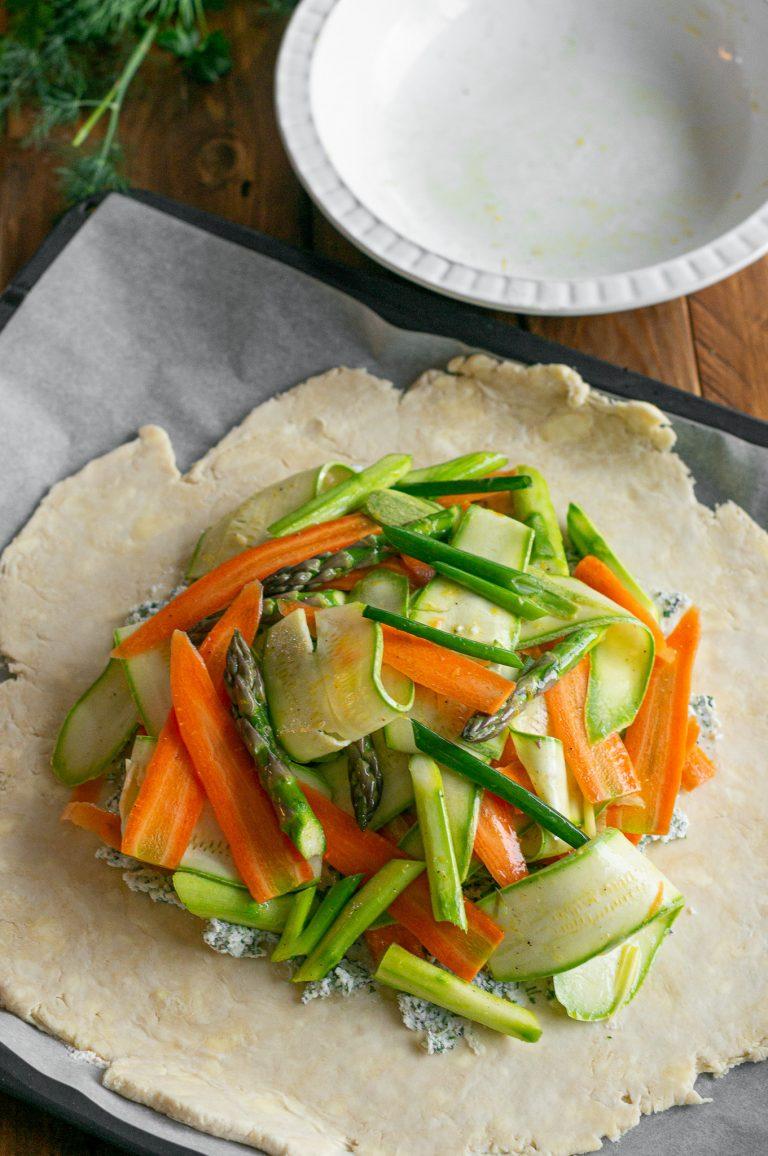 Приготвяне на зеленчуков галет с рикота