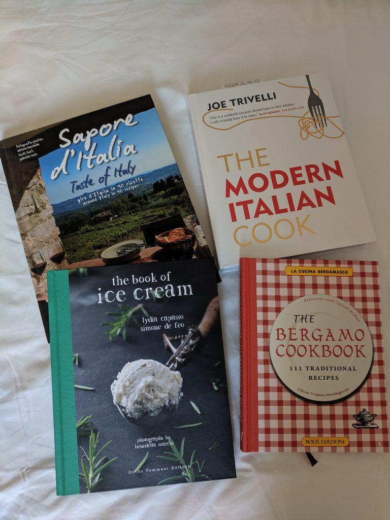 Кулинарните книги на английски, които си купих от пътешествието из северна Италия