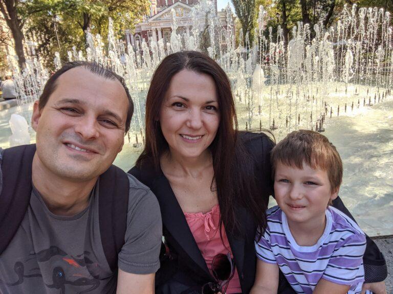 Аз, Вальо и синът ни Даниел