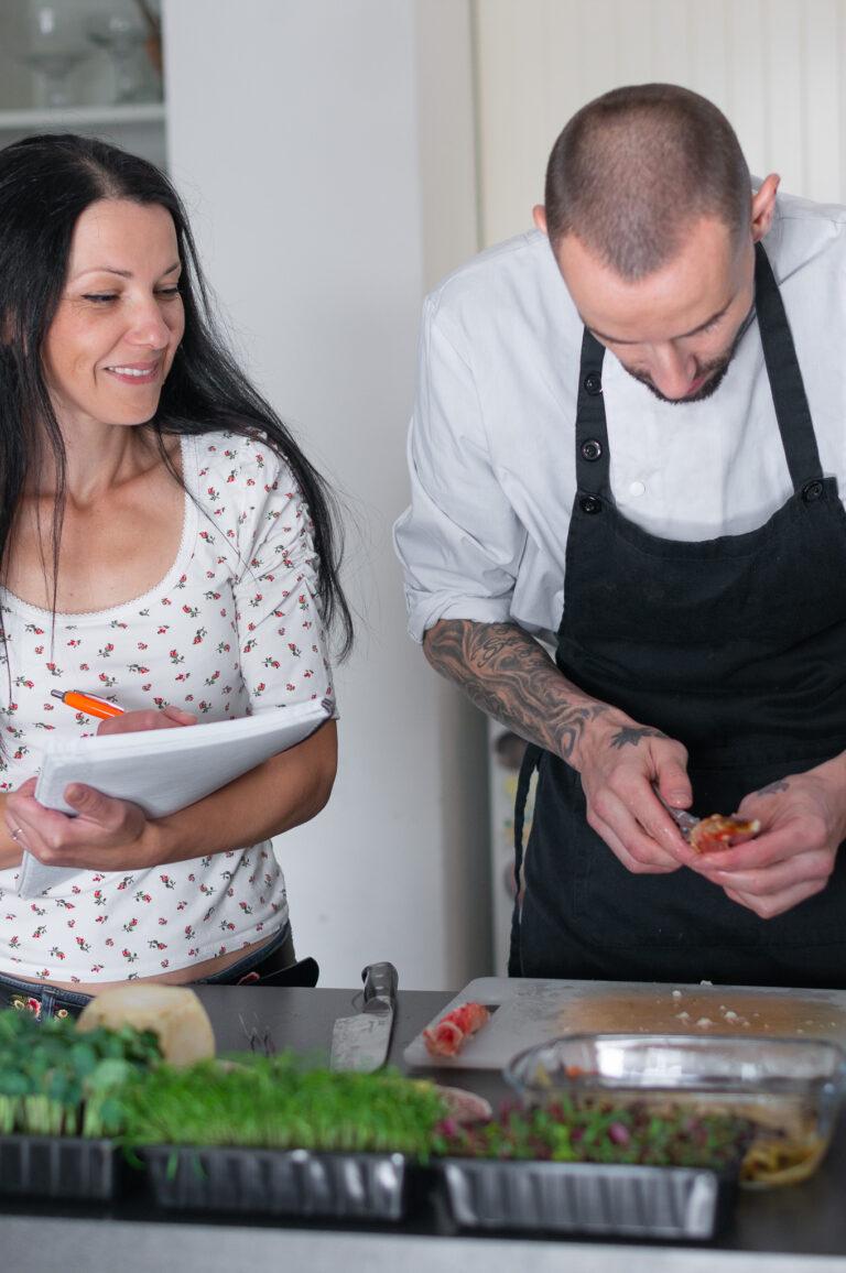 Аз и Веселин Бойкинов в моята кухня