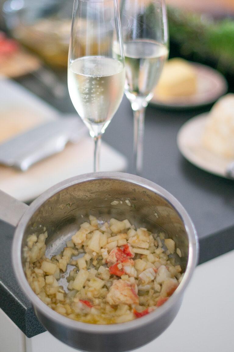 Подготовка на соса с пенливо вино