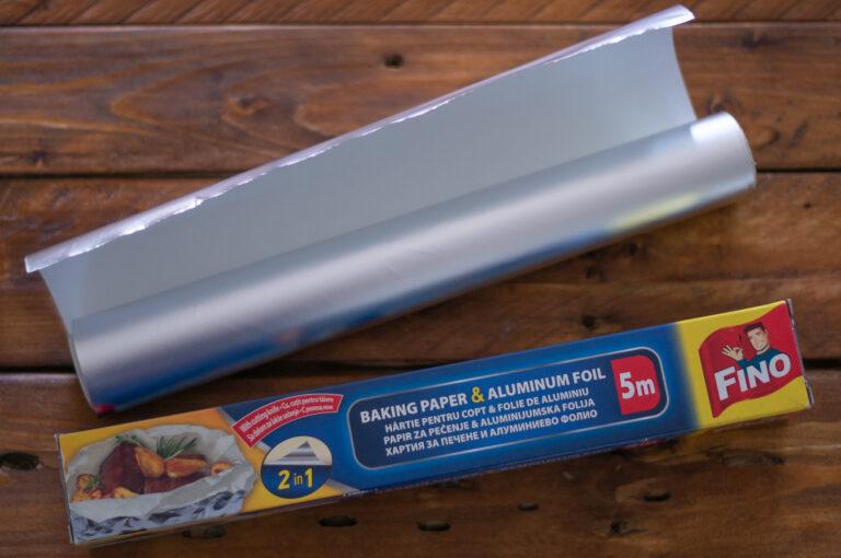 Хартия за печене и алуминиево фолио 2в1 на Fino