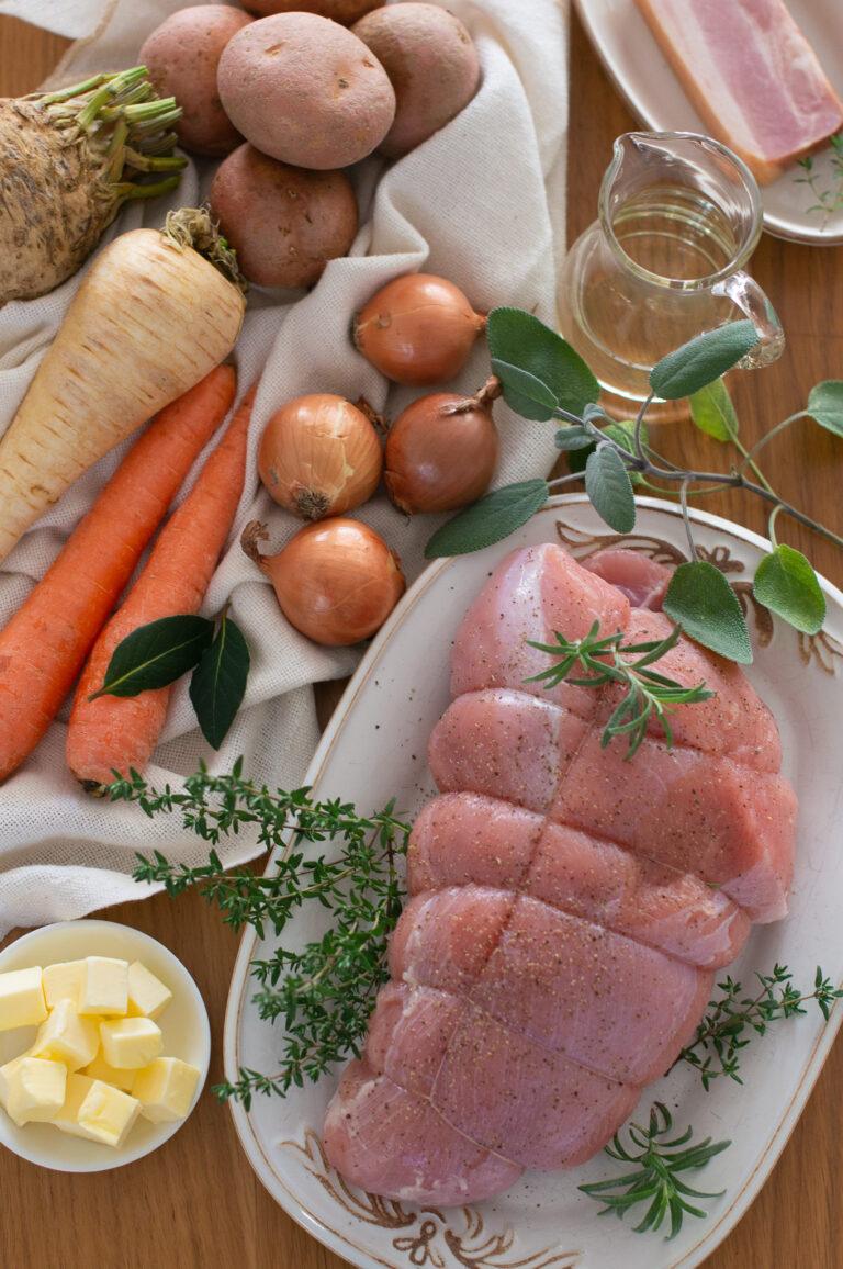 Пуешко филе и кореноплодни зеленчуци