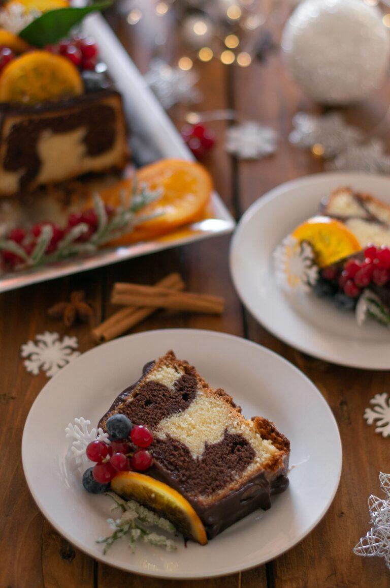 Празничен мраморен кекс