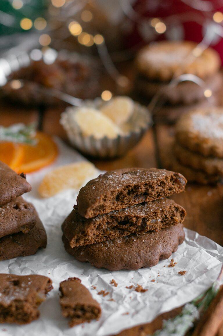 Тройно джинджифилови бисквити с меласа