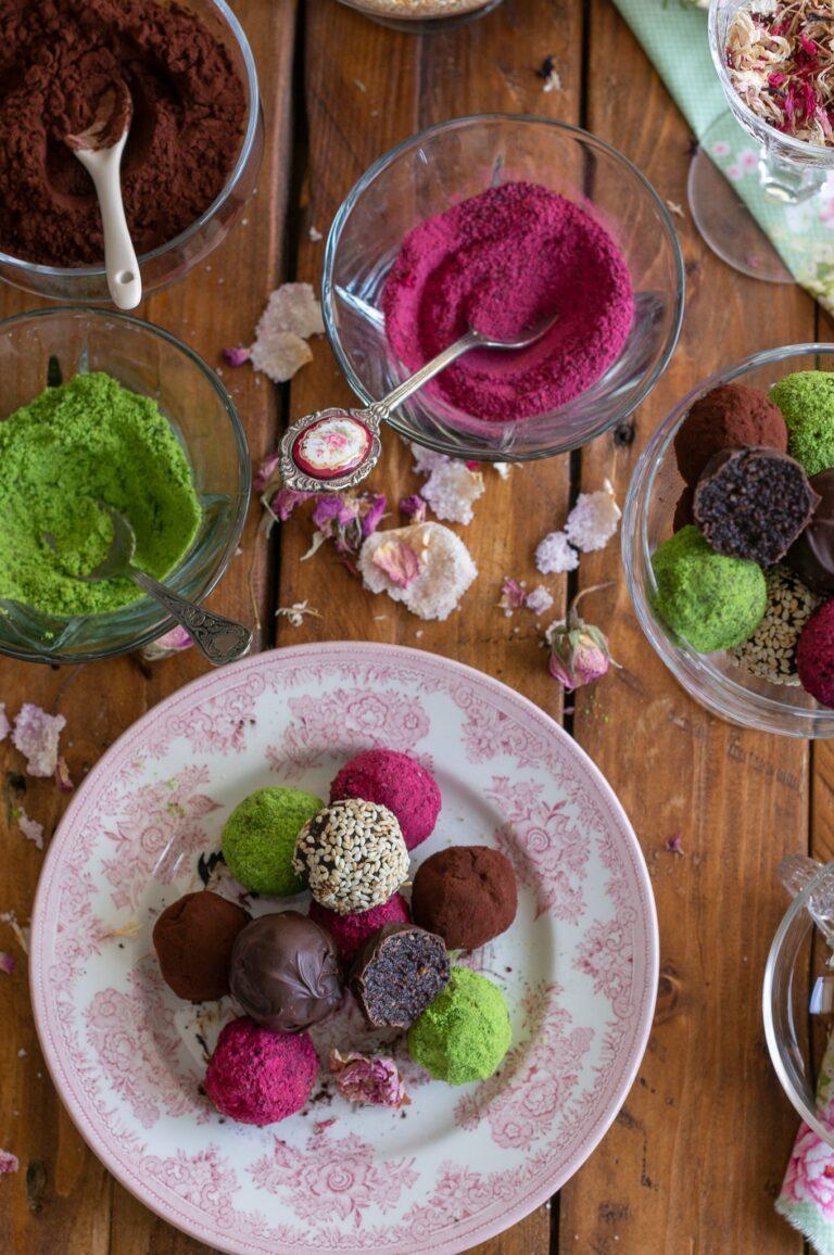 Сурови веган бонбони с какао и сусамов тахан
