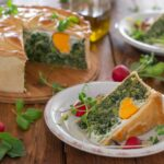 Торта Паскуалина – италиански великденски пай със зеленолистни, рикота и яйца