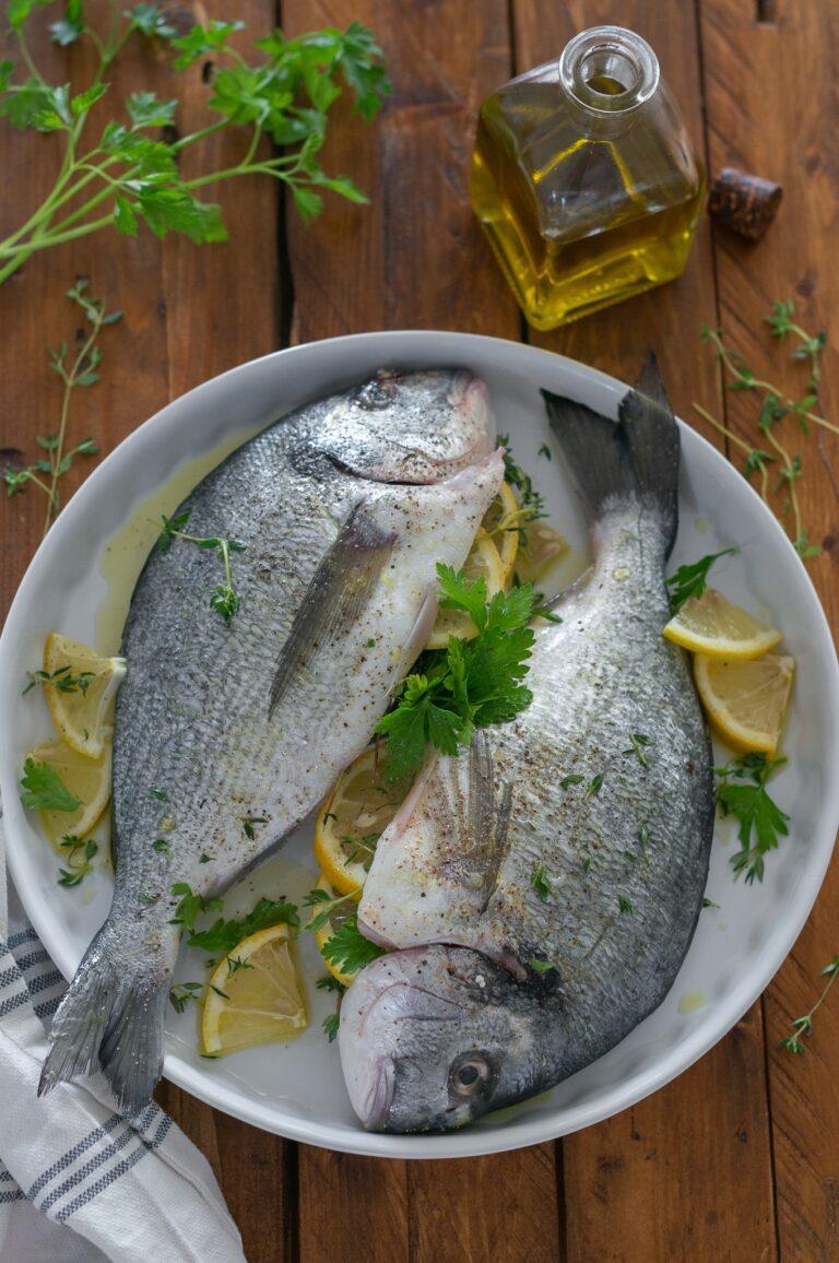 Подготвените риби за печене